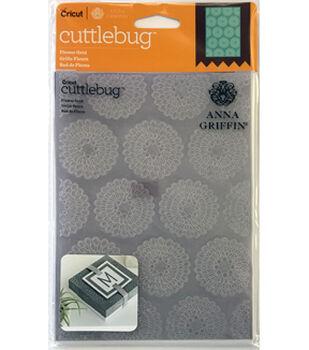Cricut Cuttlebug Anna Griffin Flower Grid 5x7 Embossing Folder