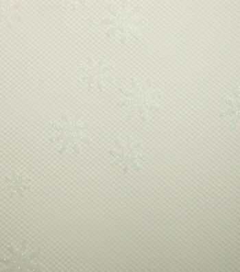 Tulle Fabric -Rosewater Iridescent Glitter Snowflake