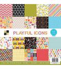 DCWV Playful Icons 12\u0027\u0027x12\u0027\u0027 Single-Sided Cardstock Stack