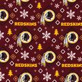 Washington Redskins Christmas Flannel Fabric-Holiday