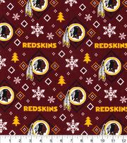 Washington Redskins Christmas Flannel Fabric-Holiday, , hi-res