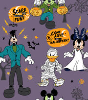 "Disney Mickey & Friends Halloween Fleece Fabric 59""-Scare Up Fun, , hi-res"