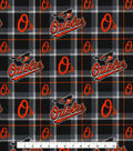 Baltimore Orioles Flannel Fabric-Plaid