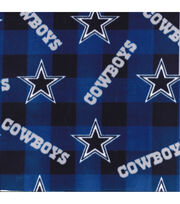 Dallas Cowboys Fleece Fabric -Buffalo Plaid, , hi-res