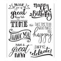 Viva Decor 6 pk Clear Stamps-Lettering English