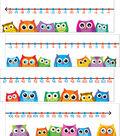 Colorful Owls Number Line Bulletin Board Set