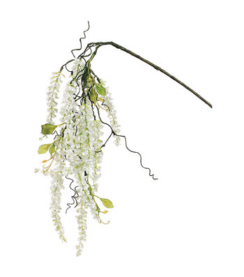 """Bloom Room 34"""" Lily of The Valley Hanging Spray-White"""