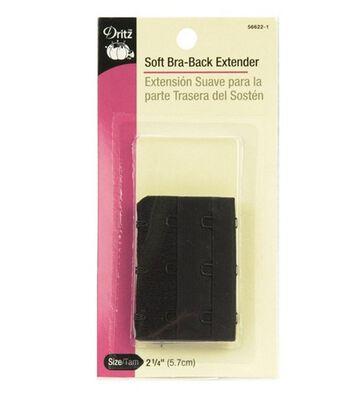 """Dritz Bra Back Extender 2-1/4"""" Wide-Black 3 Hooks"""