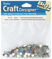 Darice Big Value! 5mm Rhinestones-180PK, , hi-res