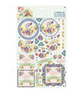 Papermania Folk Floral A4 Decoupage Pack-Laugh