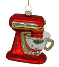 Maker\u0027s Holiday Christmas Glass Mixer Ornament-Red