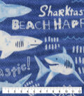 Anti-Pill Plush Fleece Fabric-Sharktastic
