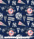 New York Yankees Cotton Fabric -Vintage