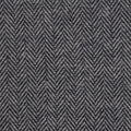 Plaiditudes Brushed Cotton Apparel Fabric -Navy & Gray Herringbone