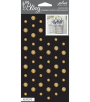 All That Bling - Jolee's Boutique - Gold Circle Wedding Bling Gems, , hi-res
