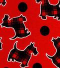 Snuggle Flannel Fabric -Plaid Scotties
