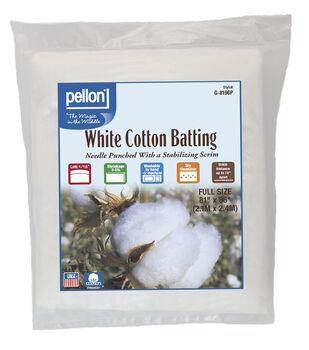 Pellon White Cotton Batting-Full