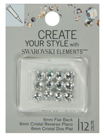 EK Success Create Your Style Swarovski Flatback 6mm Crystal