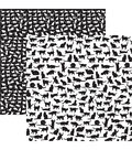 Love My Cat Double-Sided Cardstock 12\u0022X12\u0022-Cat Silhouettes