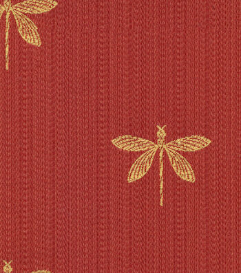 "Swavelle Millcreek Multi-Purpose Decor Fabric 54""-Imperial Dragonfly Marachino"