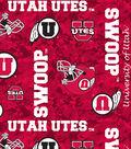University of Utah Utes Fleece Fabric -Digital Camo