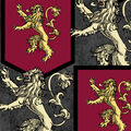 Game of Thrones Fleece Fabric-House Lannister Sigil