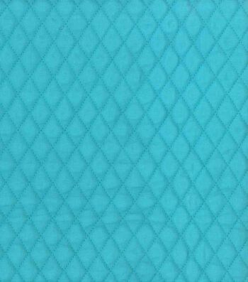 """Double Faced Quilted Fabric 42""""-Teal Diamond"""