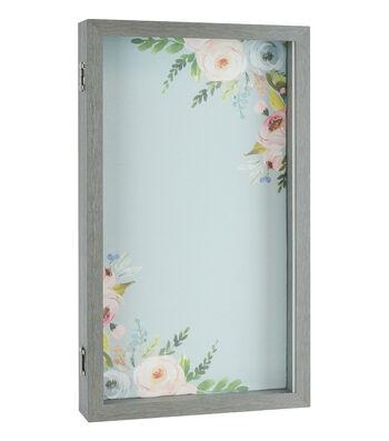 "Floral Shadowbox 10""X18"""