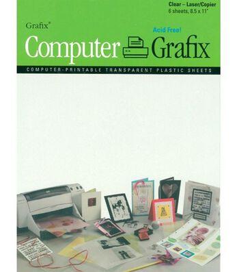 Computer-Printable Transparent Plastic Sheets