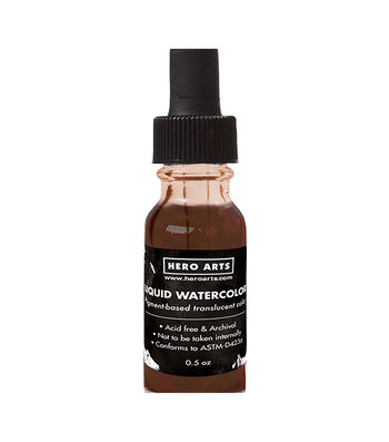 Hero Arts Liquid Watercolors .5oz-Cocoa