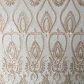 Casa Dahlia Sequin Embellished Mesh Fabric-Nude
