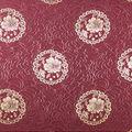Floral Medallion Fabric-Tawny Port