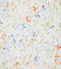 Premium Cotton Fabric-Yellow Scroll Vines