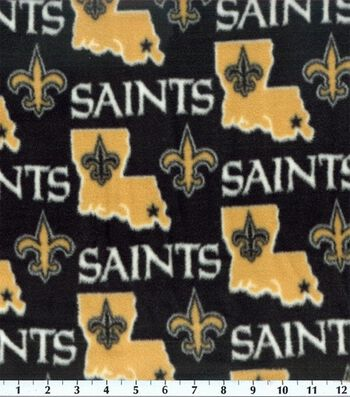 New Orleans Saints Fleece Fabric -State