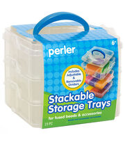 Perler 19 pk Square Stackable Storage Trays, , hi-res