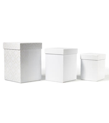 DCWV Square Nested Box Set: White