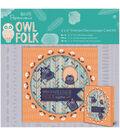 Papermania Owl Folk 6\u0027\u0027x6\u0027\u0027 Framed Decoupage Card Kit