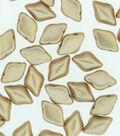 Beadsmith GemDuo`s Czech Glass Beads-Bronze Gold