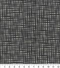 Keepsake Calico Cotton Fabric -Onyx Crossed