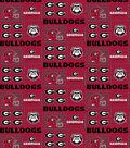 College Teams Georgia Bulldogs Cotton Fabric -Patch Logos