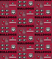 College Teams Georgia Bulldogs Cotton Fabric 44''-Patch Logos, , hi-res