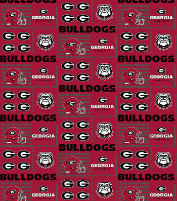 College Teams Georgia Bulldogs Cotton Fabric -Patch Logos