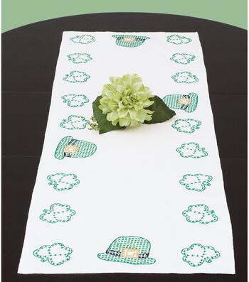 Jack Dempsey Stamped Table Runner/Scarf St. Patrick's Day