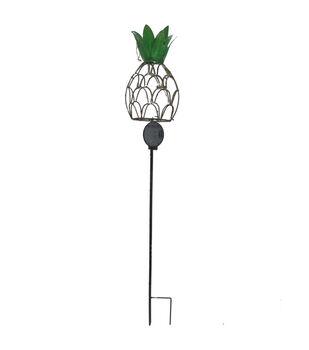In the Garden 5.5''x36'' Pineapple Solar Light Garden Stake