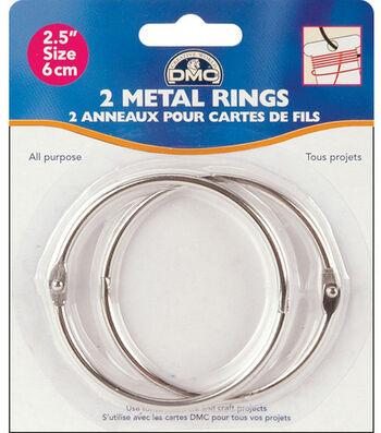 "Metal Rings-2-1/2"" 2/Pkg"