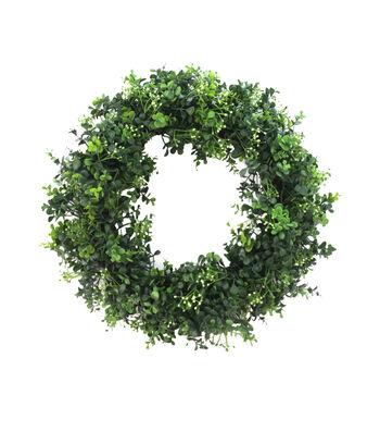Fresh Picked Spring 19.5'' Round Boxwood Wreath
