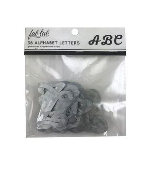 Fab Lab Craft 36 pk Galvanized Uppercase Script Alphabet Letters