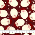 Christmas Snuggle Flannel Fabric-Santa Faces Tossed