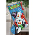 Polar Pals Stocking Needlepoint Kit-16\u0022 Long Stitched In Thread