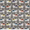 Super Snuggle Flannel Fabric-Pugs on Gray